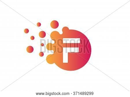 Dots Letter F Logo. F Letter Design Vector With Dots And Colorful Modern Trendy Vector