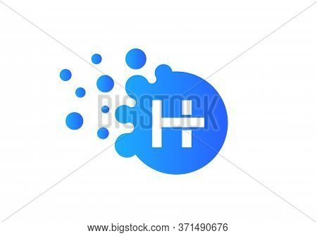 Letter H Bubbles Logo Template. Vector Brand Name Design. Dots Letter H Logo. H Letter Design Vector