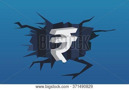 Rupee Downfall Concept, Inflation, Rupee Value Down Against Dollar, Rupee Vs Dollar Illustration, Ru