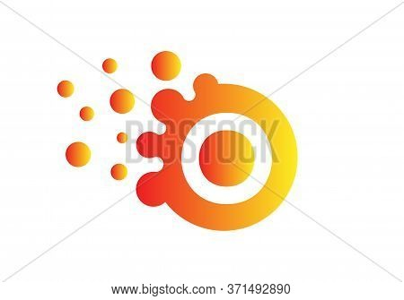 Dots Letter O Logo. O Letter Design Vector With Dots And Colorful Modern Trendy Vector