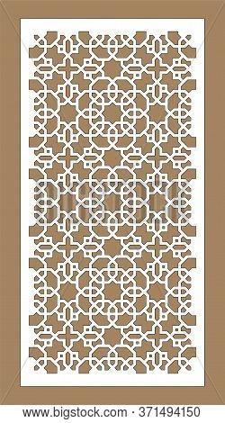 Room Devider Patterns. Set Of Decorative Vector Panels For Laser Cutting. Template For Interior Part