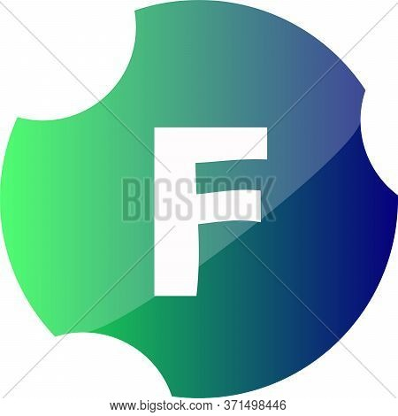 Letter F In The Web Button. F Symbol Icon Web Design