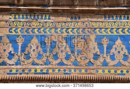 Gwalior, Madhya Pradesh/india : March 15, 2020 - Exterior Of Walls Of Man Singh Palace In Gwalior Fo