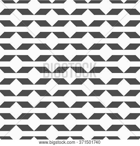 Geometric Vector Pattern, Repeating Diamond Shape Linked With Triangle Shape On Background. Pattern