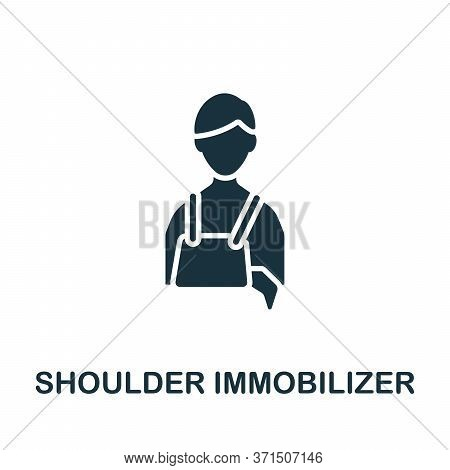 Shoulder Immobilizer Icon. Simple Element From Trauma Rehabilitation Collection. Creative Shoulder I