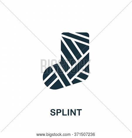 Splint Icon. Simple Element From Trauma Rehabilitation Collection. Creative Splint Icon For Web Desi