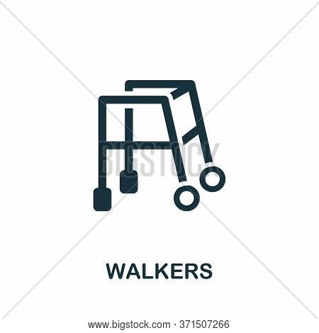 Walkers Icon. Simple Element From Trauma Rehabilitation Collection. Creative Walkers Icon For Web De