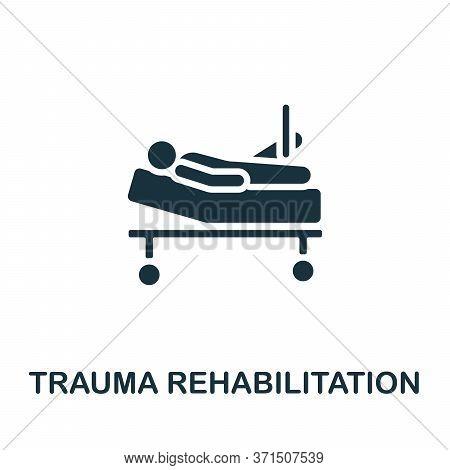 Trauma Rehabilitation Icon. Monochrome Simple Trauma Rehabilitation Icon For Templates, Web Design A