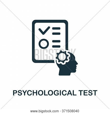 Psychological Test Icon. Simple Element From Psychology Collection. Creative Psychological Test Icon
