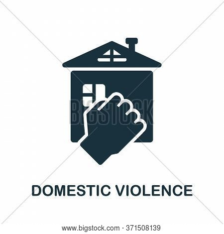 Domestic Violence Icon. Simple Element From Psychology Collection. Creative Domestic Violence Icon F