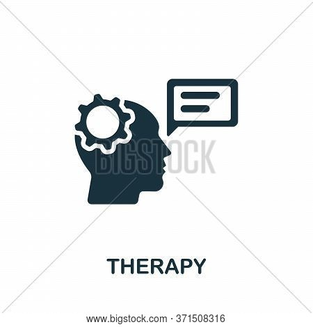 Therapy Icon. Simple Element From Psychology Collection. Creative Therapy Icon For Web Design, Templ