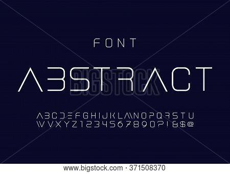 Cosmic, Elegant Light, Font. Thin Font. Futuristic Typeface. Vector Alphabet Set. Minimal. Hipster F