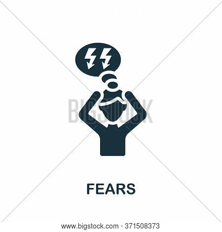 Fears Icon. Simple Element From Psychology Collection. Creative Fears Icon For Web Design, Templates