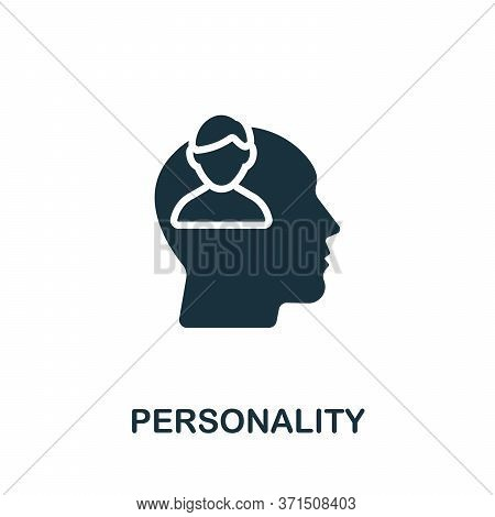 Personality Icon. Simple Element From Psychology Collection. Creative Personality Icon For Web Desig