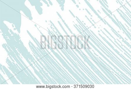 Grunge Texture. Distress Blue Rough Trace. Cool Background. Noise Dirty Grunge Texture. Unequaled Ar