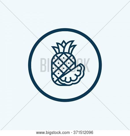 Pineapple Icon Isolated On White Background From Fruits Collection. Pineapple Icon Trendy And Modern