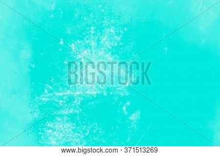 Aquamarine Metal Surface Texture Background, Patchy Toned Background