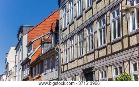 Half Timbered Houses In The Center Of Schwerin, Germany