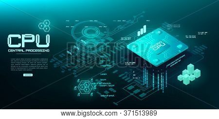 Futuristic Central Microprocessor For Personal Computing Device. A Quantum Computer For Processing A