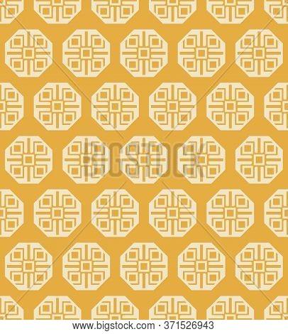 Retro Vintage Chinese Traditional Pattern Seamless Background Geometry Plygon Cross Kaleidoscope
