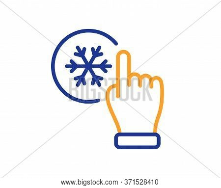Freezing Click Line Icon. Ac Cold Temperature Sign. Fridge Function Symbol. Colorful Thin Line Outli