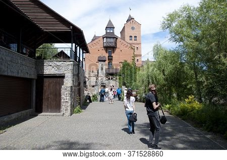 Radomyshl, Ukraine - June 06, 2017: Radomysl Castle, Radomyshl. Ukraine. Econstructed Fortress In Ra
