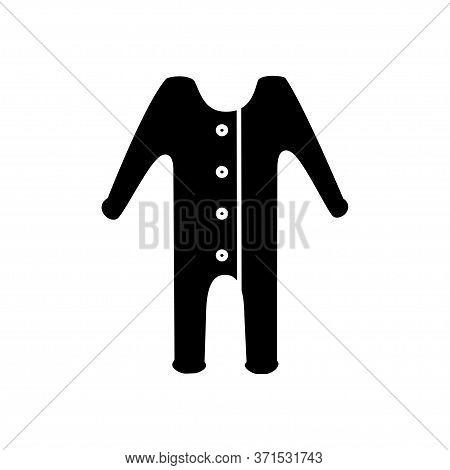 Sleeping Pajamas Black Icon On White Background
