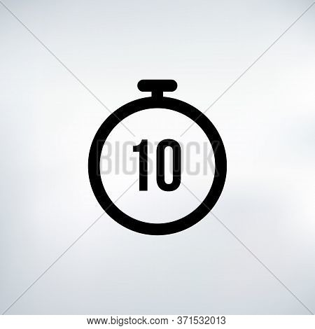 10 Seconds Countdown Timer Icon Set. Time Interval Icons. Stopwatch And Time Measurement. Stock Vect