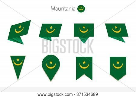 Mauritania National Flag Collection, Eight Versions Of Mauritania Vector Flags. Vector Illustration.
