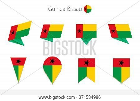 Guinea-bissau National Flag Collection, Eight Versions Of Guinea-bissau Vector Flags. Vector Illustr
