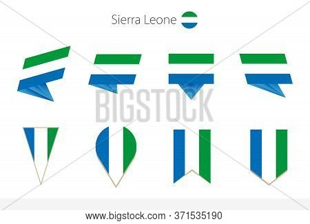 Sierra Leone National Flag Collection, Eight Versions Of Sierra Leone Vector Flags. Vector Illustrat