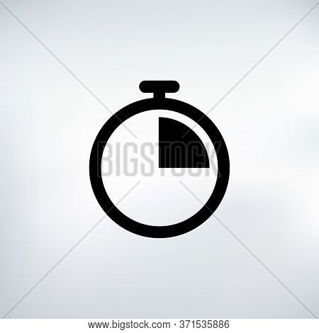 15 Seconds Countdown Timer Icon Set. Time Interval Icons. Stopwatch And Time Measurement. Stock Vect