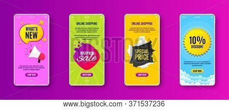 Super Sale Badge. Phone Screen Banner. Discount Banner Shape. Coupon Bubble Icon. Sale Banner On Sma
