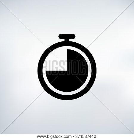 45 Seconds Countdown Timer Icon Set. Time Interval Icons. Stopwatch And Time Measurement. Stock Vect