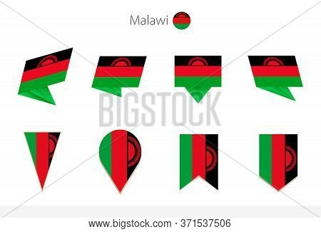 Malawi National Flag Collection, Eight Versions Of Malawi Vector Flags. Vector Illustration.