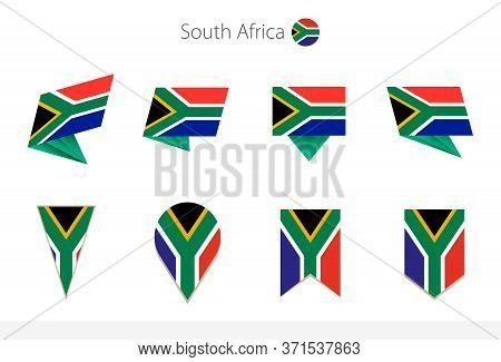 South Africa National Flag Collection, Eight Versions Of South Africa Vector Flags. Vector Illustrat
