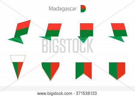 Madagascar National Flag Collection, Eight Versions Of Madagascar Vector Flags. Vector Illustration.