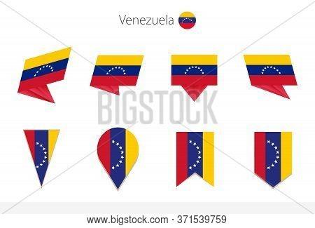 Venezuela National Flag Collection, Eight Versions Of Venezuela Vector Flags. Vector Illustration.