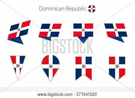 Dominican Republic National Flag Collection, Eight Versions Of Dominican Republic Vector Flags. Vect