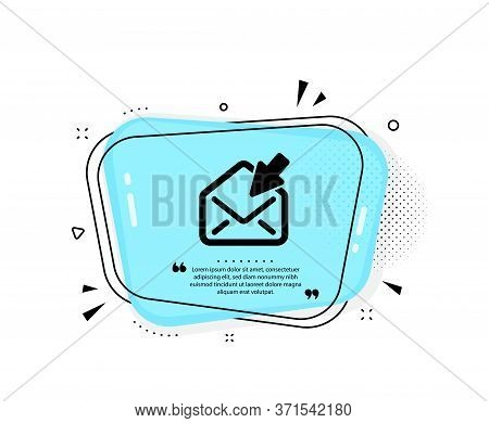 Open Mail Icon. Quote Speech Bubble. View Message Correspondence Sign. E-mail Symbol. Quotation Mark