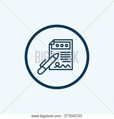 Contract Icon Vector Icon On White Background. Contract Icon Modern Icon For Graphic And Web Design.