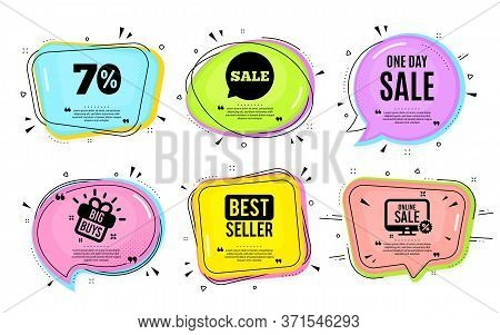 One Day Sale. Big Buys, Online Shopping. Special Offer Price Sign. Advertising Discounts Symbol. Quo
