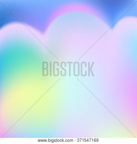 Rainbow Princess Background. Fantasy Unicorn Sky Pearlescent Backdrop. Cute Unusual Holographic Wall