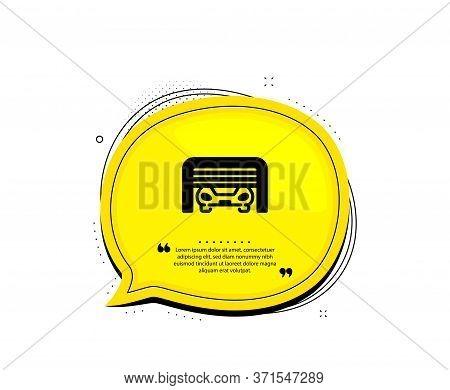 Parking Garage Icon. Quote Speech Bubble. Auto Park Sign. Car Place Symbol. Quotation Marks. Classic