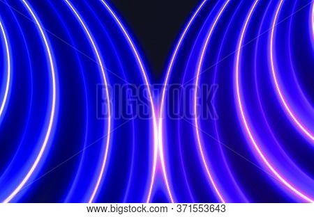 Futuristic Abstract Colorful Vector Background With Glowing Electric Bright Neon Lines . Neon Glowin