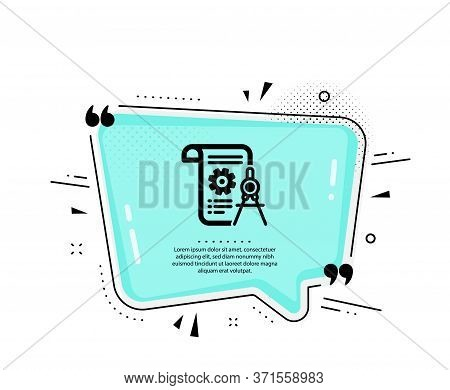 Divider Document Icon. Quote Speech Bubble. Engineering Cogwheel Tool Sign. Cog Gear Symbol. Quotati