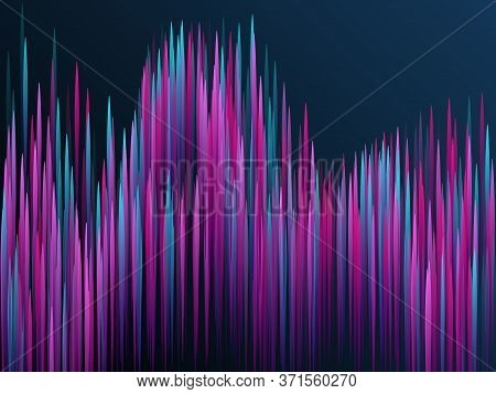 Glowing Lines Falling Abstract Big Data Concept Tech Vector Background. Digital Blue Pink Neon Lines
