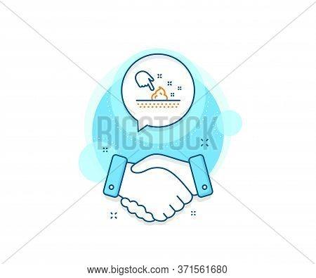Body Or Face Care Sign. Handshake Deal Complex Icon. Skin Moisture Line Icon. Moisturizing Cream Sym