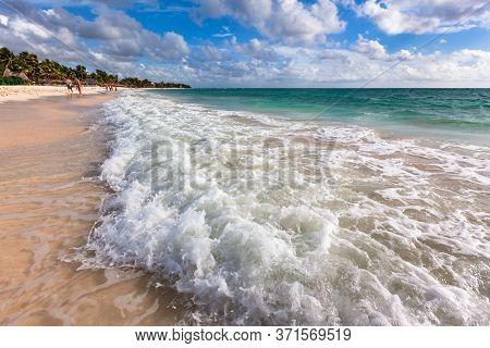 Turquoise Caribbean Sea, Rivera Maya White Sand Beach