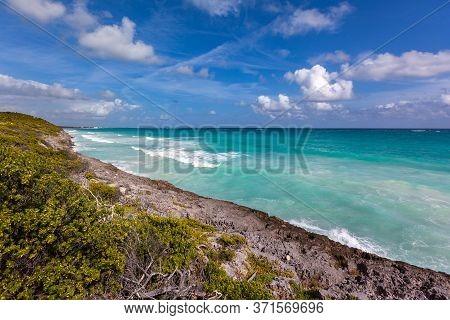 Turquoise Caribbean Sea, Rivera Maya Rocky Shore
